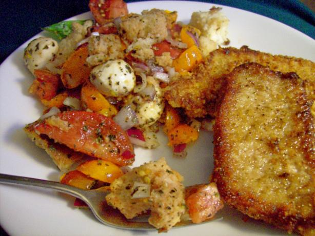 Kumquat's Panzanella (Bread and Tomato Salad)