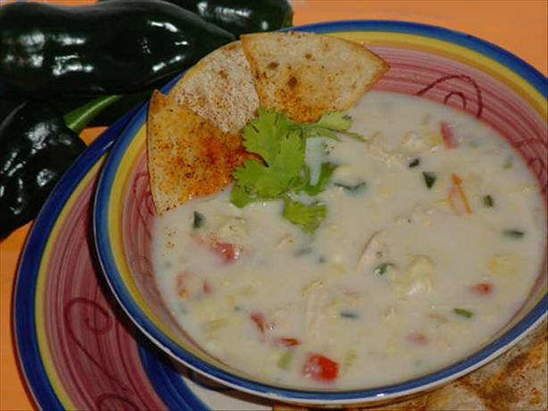 Poblano Corn Chowder With Chicken