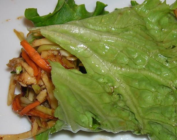 Hoisin Chicken Lettuce Wraps