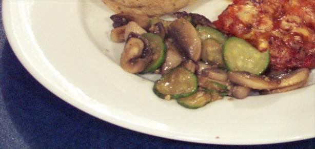 Courgette and Mushroom Stir Fry
