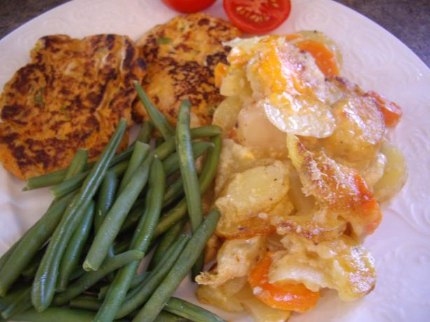 Microwaved Scalloped Potatoes and Carrots