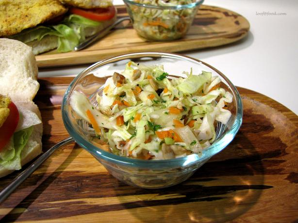Coleslaw With Apple and Honey Dressing..