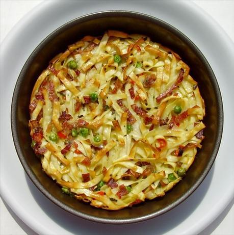Spaghetti Frittata from Leftovers