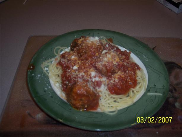 Dorothy's Meatballs and Spaghetti