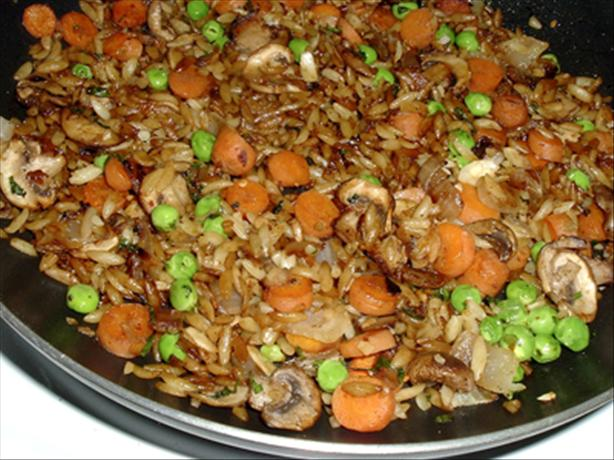 Orzo Stir Fry With Veggies