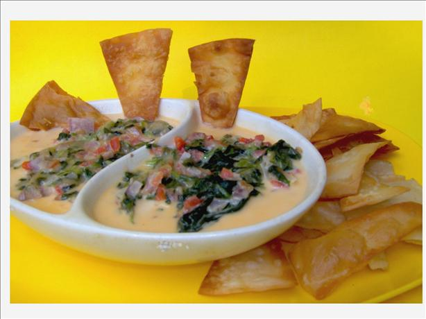 Walnut Brewery's Spinach Con Queso Dip