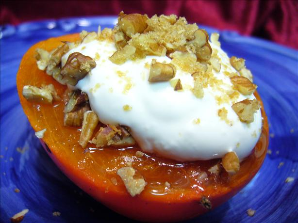 Ww 3 Points - Broiled Persimmon With Pecans