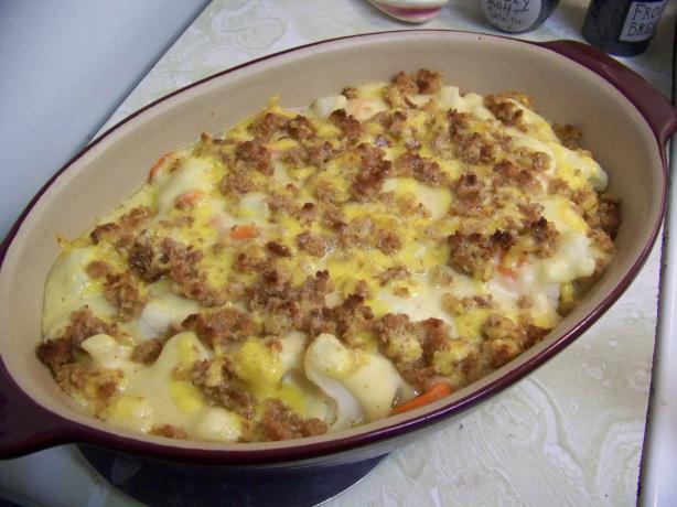 Cauliflower and Carrot Gratin