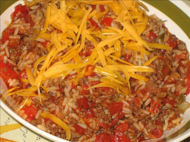 Hamburger-Rice Skillet