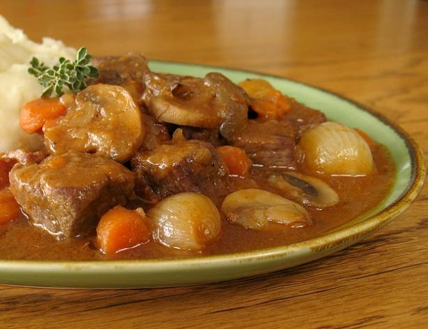 Crock Pot Beef Bourguignon