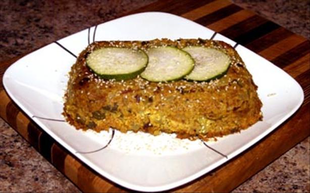 Hazelnut and Courgette (Zucchini) Bake