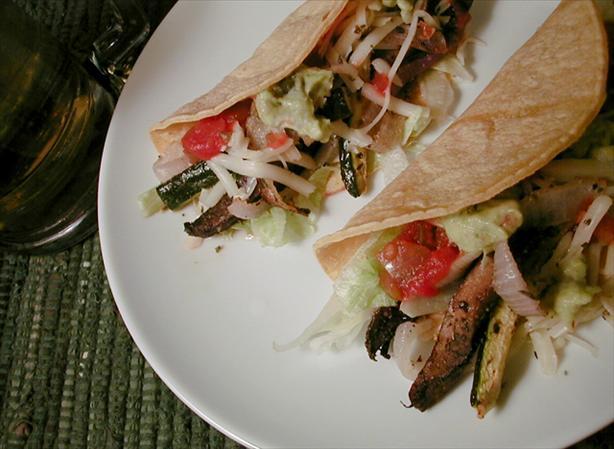 Portabella and Zucchini Tacos