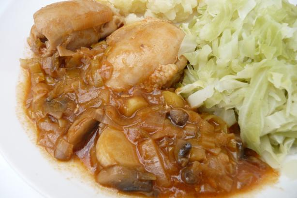Chicken With Leeks and Mushrooms
