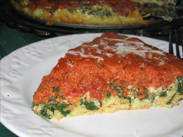 Layered Pasta Ricotta Pie