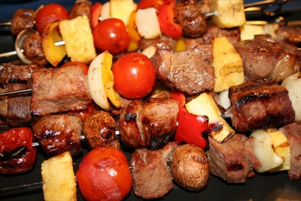 Sweet Steak Kabobs