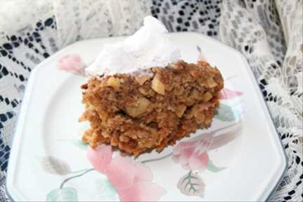 Apple Oatmeal Pudding in the Crock Pot