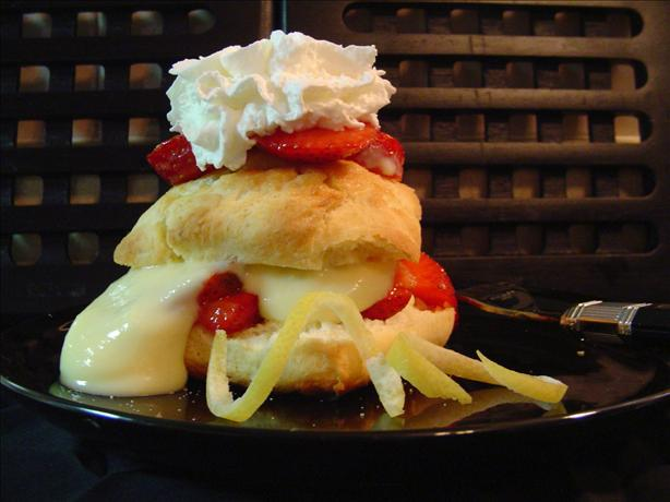 Strawberry Lemon Custard Shortcake