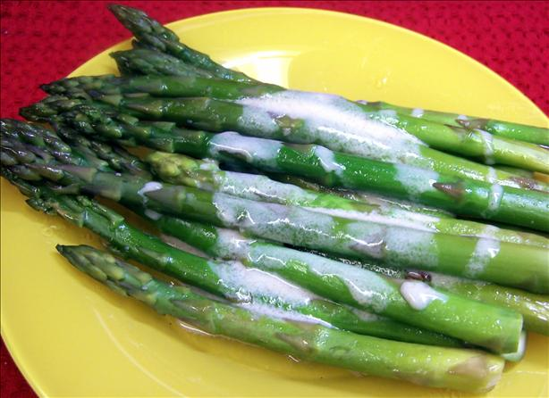 Oven Baked Asparagus With Mustard Sauce