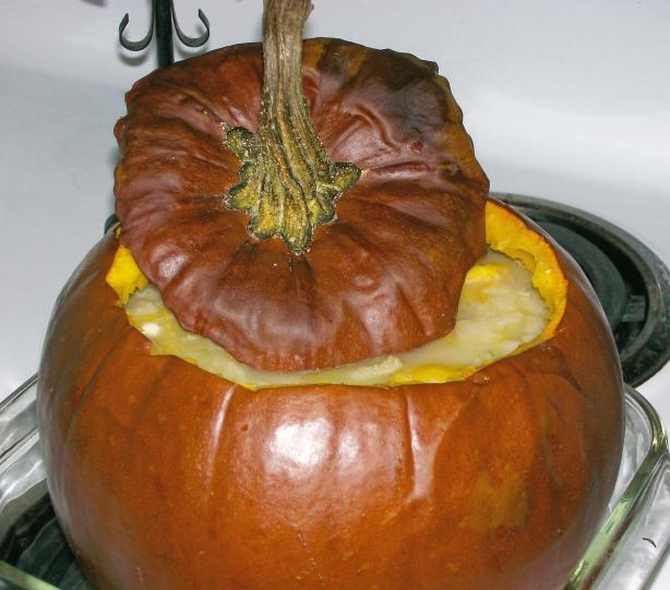 Peter Pumpkin Eater's Stuffed Pumpkin Soup