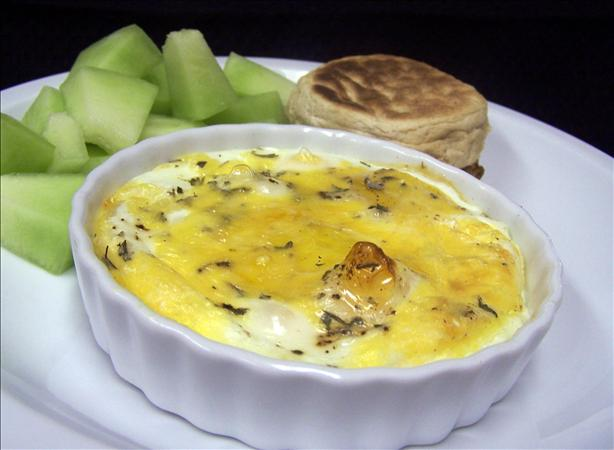 Baked Eggs With Herbs