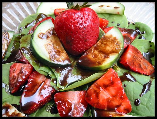 Strawberry Salad With Chocolate Balsamic Dressing