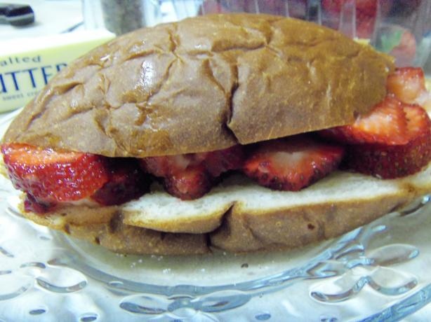 Fresh Strawberry Sandwich