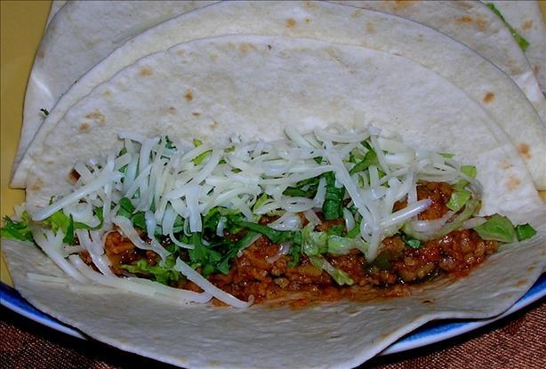 "Vegetarian Taco ""meat"""