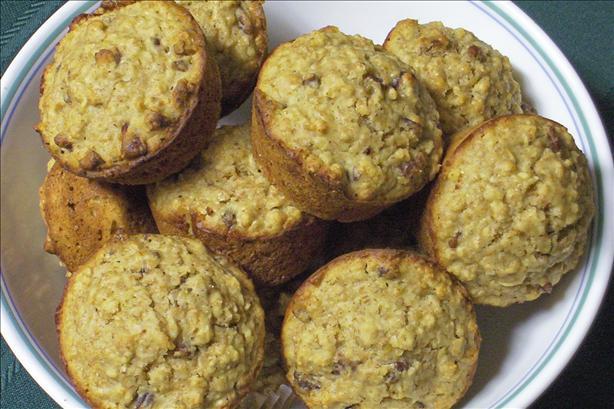 Lemon Pecan Oatmeal Muffins