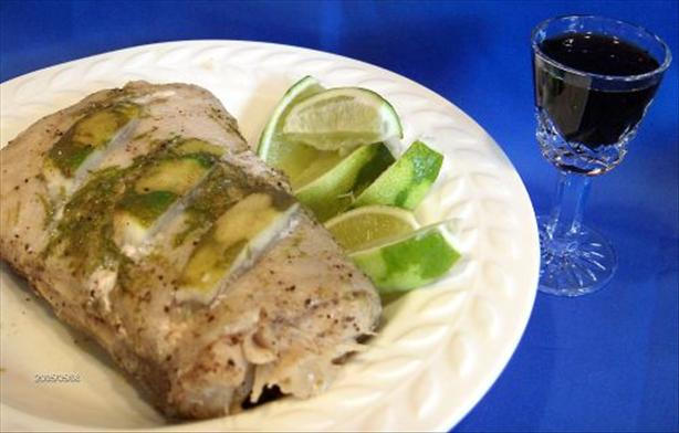 Halibut Roast With Tequila Liqueur and Lime