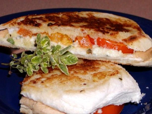 Grilled Feta and Tomato Sandwich