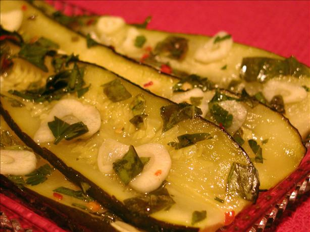 Marinated Zucchini in the Style of Naples