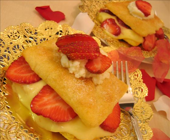 Crescent Napoleons With Strawberries