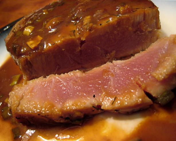 Tuna With Wasabi Lime Butter Sauce