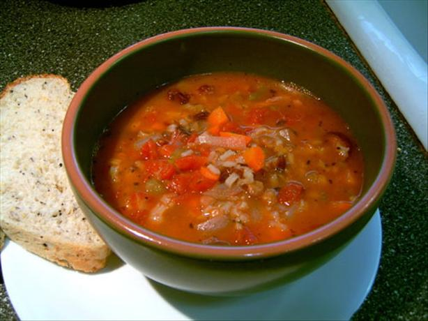 Rice and Lentil Soup or Stew