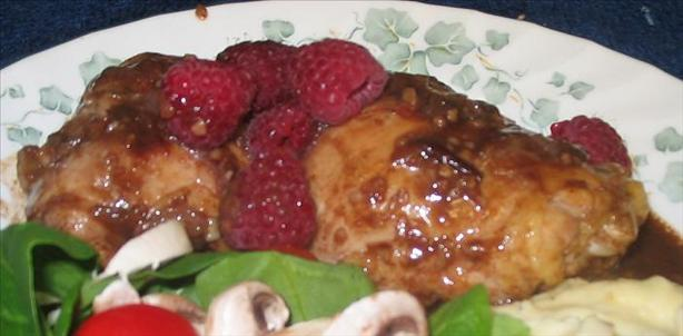 Chicken With Raspberry Cream Sauce