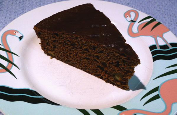 Lightened up Gingerbread Cake