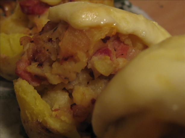 Ham & Cheese Baked Potatoes