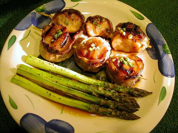 Bourbon Bacon Scallops