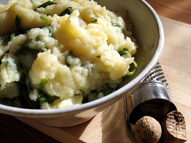 Quick Spinach and Mashed Potatoes