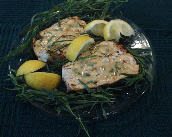 Grilled Halibut With Lemon Tarragon Mustard