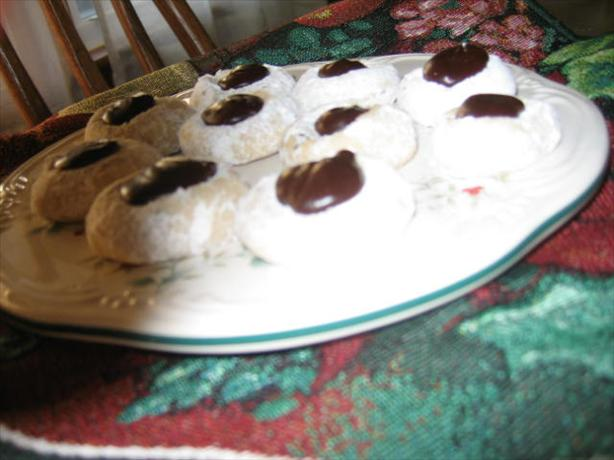 Fudge Filled Chocolate Chip Thumbprints