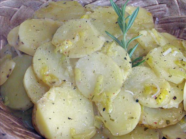 Potatoes With Leeks and Rosemary