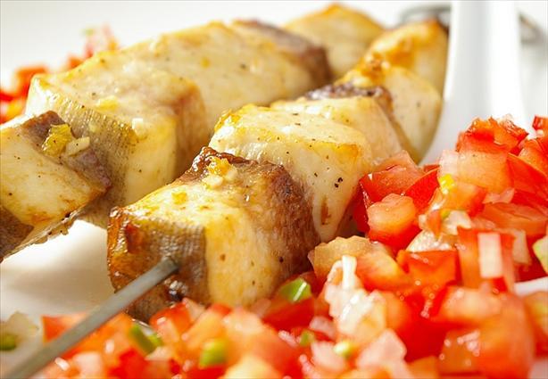 Yugoslavian Fish Skewers With Serbian Tomato Relish