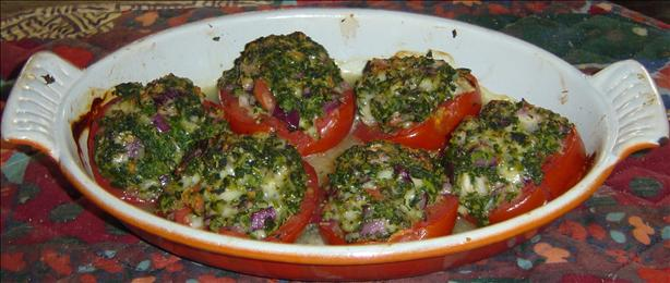 Spirit's Spinach Stuffed Tomatoes