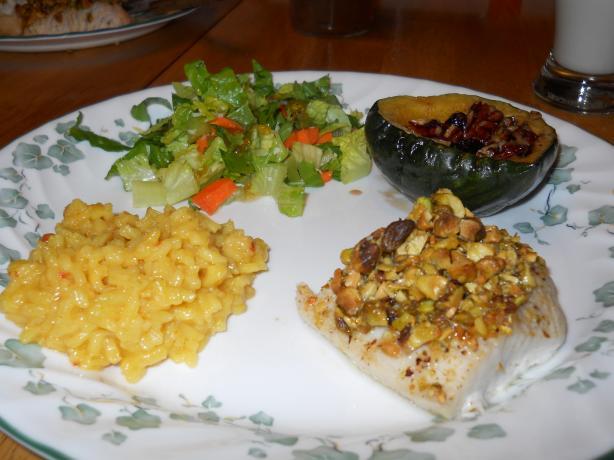 Pistachio-Crusted Mahi Mahi