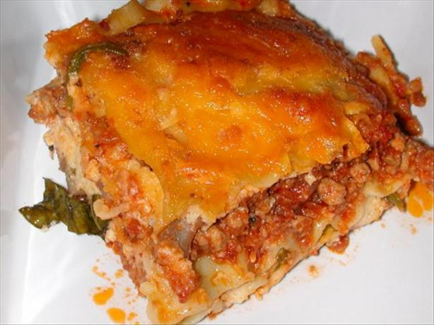 Steak and Spinach Lasagna