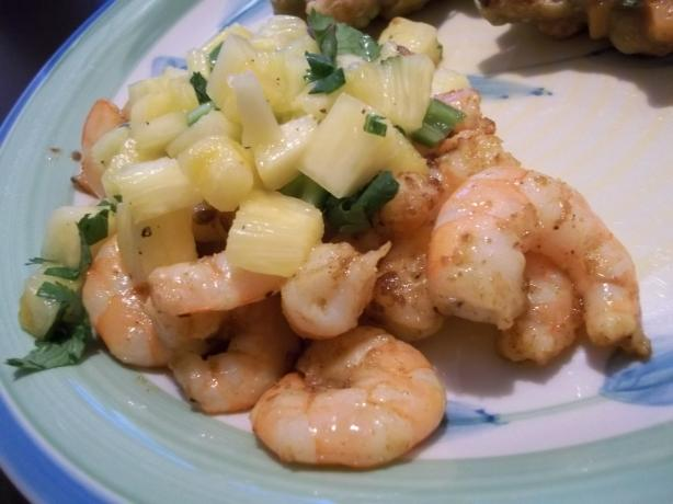 Curried Shrimp With Pineapple Salsa