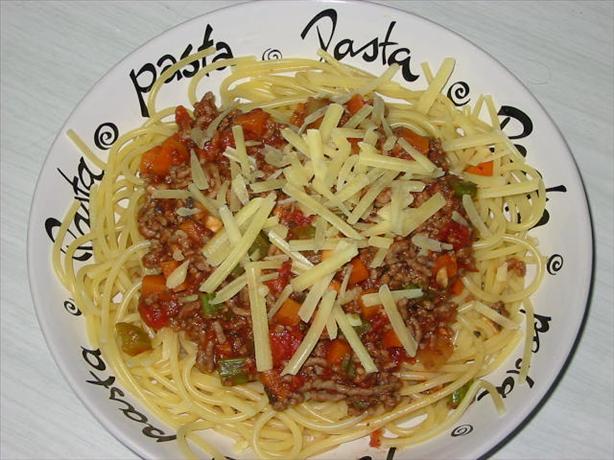 Almost Fat - Free Spaghetti Bolognese