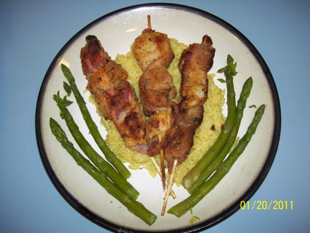 Delicious Seafood and Bacon Kebabs