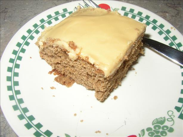 Applesauce Cake With Caramel Frosting